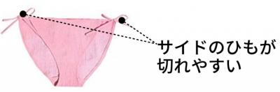 空気パンツのサイドのひもが切れやすい