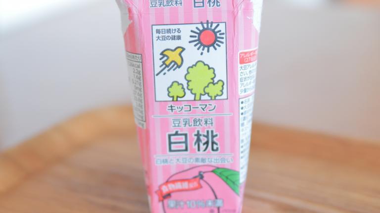豆乳飲料白桃